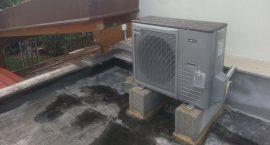Unità esterna poampa di calore NIBE Split Pack2 per impianto aerotermico.