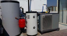 Pompa di calore NIBE F2040 per impianto aerotermico.