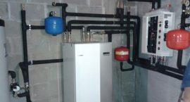 Pompa di calore geotermica NIBE F1145 per impianto geotermico centralizzato ville a schiera.