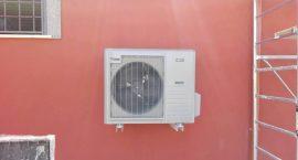 Pompa di calore aria acqua per impianto geotermico in villa a roma