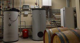 Pompa di calore NIBE F1345 per impianto aerotermico in azienda vinicola.