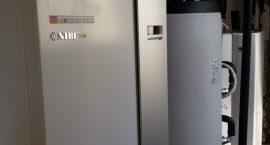Pompa di calore geotermica NIBE F1145 per impianto geotermico.