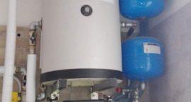 Impianto geotermico per produzione acqua calda in appartamento