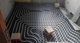 Impianto geotermico per riscaldamento e raffrescamento con pavimento radiante