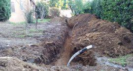 Scavi per impianto geotermico in casale a Monteporzio Catone