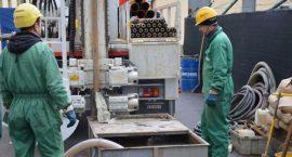 Sonda geotermica per impianto geotermico per uffici.