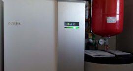 Pompa di calore NIBE F1245 per impiando idrotermico in azienda vinicola.
