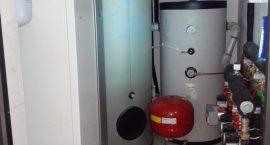 Pompa di calore NIBE F1245 per impianto idrotermico in palazzo di 4 appartamenti.
