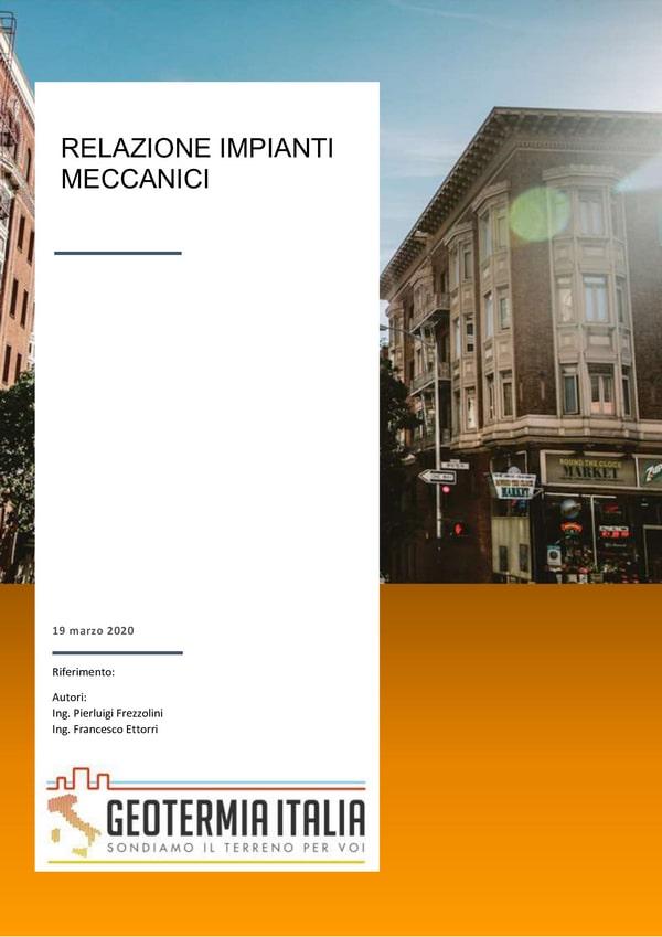 Relazione tecnica progettazione impianto geotermico